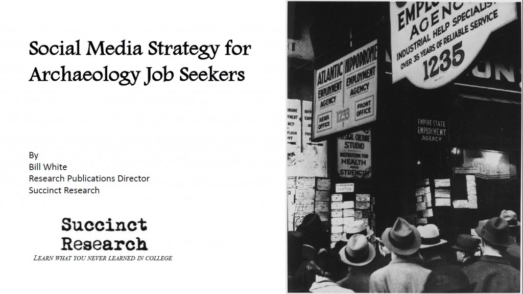 Social Media Strategy for Archaeology Job Seekers