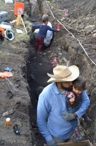 Volunteering is an excellent way to introduce minority children to archaeology