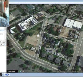 You can use Google Earth and Trulia to identify historic properties in your project area