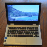 """The Toshiba Radius 11"""" is a cheap, lightweight PC that can be used in the field"""