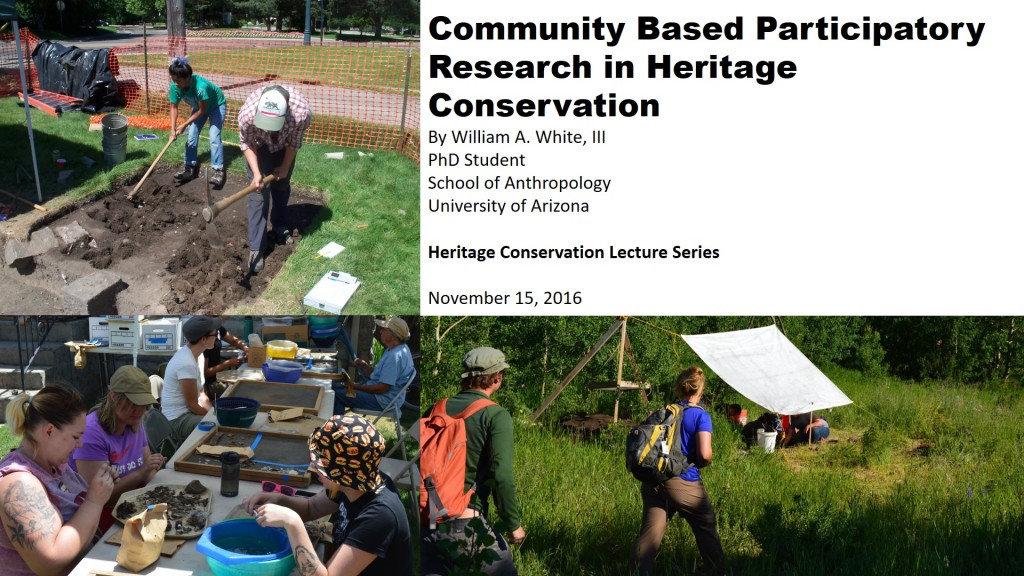 community based participatory research in heritage conservation